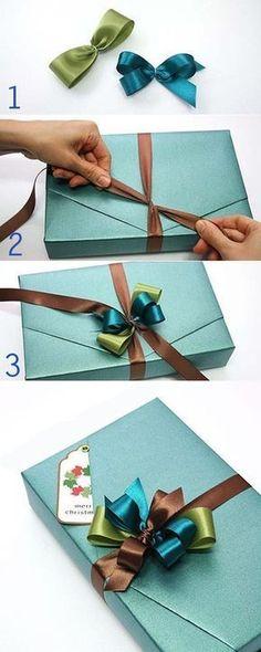 Como hacer maravillosos lazos para envolver los regalos de navidad - El Cómo de las Cosas