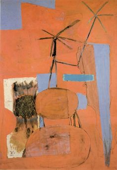 The Poet (1947), oil and collage on canvas by Robert Motherwell.