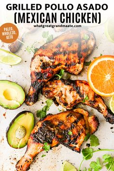 This Whole30 and paleo pollo asado is a delicious and authentic Mexican grilled chicken recipe with the most flavorful marinade. You can also bake in the oven if you don't have a grill! So juicy and tender. Healthy Meat Recipes, Meat Recipes For Dinner, Best Gluten Free Recipes, Chicken Parmesan Recipes, Chicken Thigh Recipes, Grilled Chicken Recipes, Best Chicken Recipes, Whole 30 Recipes, Mexican Food Recipes