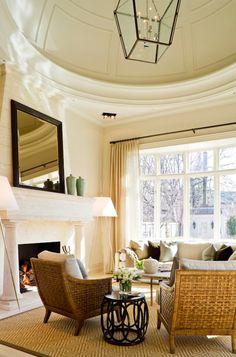 AMAZING ceiling, lantern, neutral color scheme... absolutely FABULOUS space