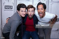 Ben Schwartz, David Tennant and Danny Pudi attend Build Presents to discuss the beboot Of 'Duck Tales'at Build Studio on August 8, 2017 in New York City.