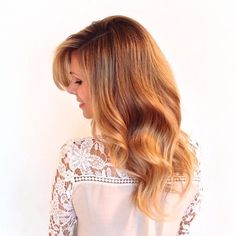 Soft sexy blonde hair with a slight ombre or sombre, soft ombre.
