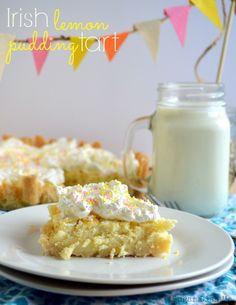 Irish Lemon Pudding Tart