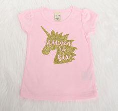 ed3d5a6afac441 6th Birthday Shirt - Personalized Birthday Girl Shirt - Unicorn Birthday  tshirt - Sixth Birthday Shirt - Unicorn Outfit