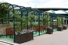The Rose Arbour is a beautiful area to enjoy at Wimbledon #Wimbledon
