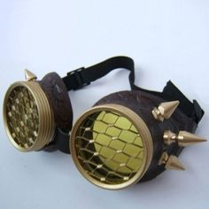 Spiked Air Pirate Steampunk Goggles