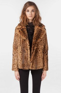 Leopard Faux Fur Coats For Women