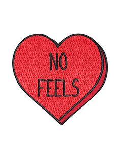 Loungefly No Feels Heart Iron-On Patch,