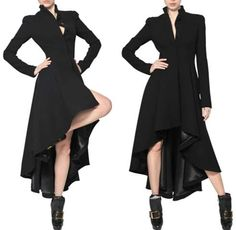 ALEXANDER MCQUEEN DOUBLE WOOL CREPE LONG COAT
