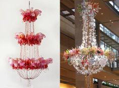 Safari Fusion: Recycled chandeliers