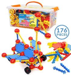 Smarkids Building Blocks for Toddlers, STEM Building Toys Educational Learning Construction Toys, 3D Toy Blocks Building Sets Engineering Toys Gift for Kids Boys Girls Ages 3 4 5 6 7 8 9 10 Year Old >>> Click image to review more details. (This is an affiliate link)