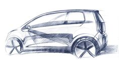 VW E Up! Concept Design Sketch