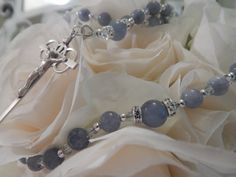 WEDDING BRIDAL ROSARY Bridal Bouquet, First Communion Confirmation Rosary Beads Rosary Girl Religious Godparent Gift Something Blue
