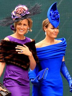 That blue hat/fascinator says it all.