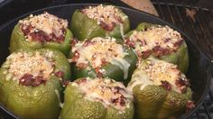 Stuffed Peppers By The BBQ Pit Boys -- Watch BBQ Pit Boys create this delicious recipe at http://myrecipepicks.com/1137/BBQPitBoys/stuffed-peppers-by-the-bbq-pit-boys/