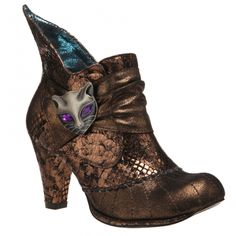 Irregular Choice Miaow Brown Gold New Leather Womens Hi Ankle Boots Shoes Shoe Boots, Ankle Boots, Irregular Choice Shoes, Pretty Shoes, Dream Shoes, Cowboy Boots, Booty, Fancy, Best Deals
