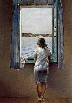 Dalì ragazza alla finestra