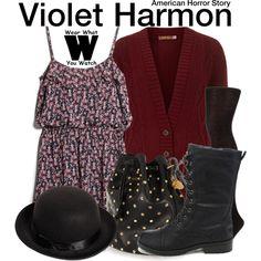 Inspired by Taissa Farmiga as Violet Harmon on American Horror Story: Murder House.