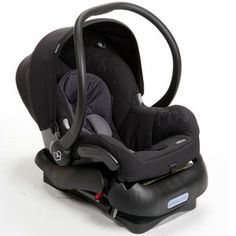 Maxi-Cosi Mico infant seat - Total Black  *even if I have a little girl I want this car seat-big fan of black on black plus I have an adorable car seat cover that will add some color :)