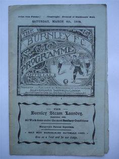 #mufcRARE Burnley V Manchester United FA Cup 4th Round Football Programme 1909 RARE Manchester United Fa Cup, Fleet Street, Football Program, Burnley, Old Things, Things To Sell, Programming, Magazines, Soccer