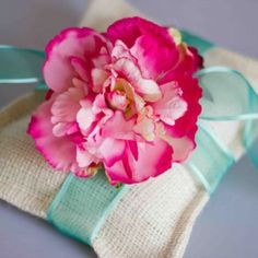 Flower and pillow decor
