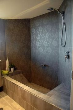 Sunken bathtub shower combo master bath idea bathroom for Garden bathtub shower combo