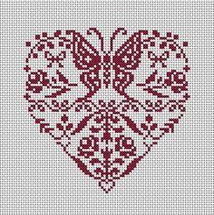 Coeur de papillons et fleurs