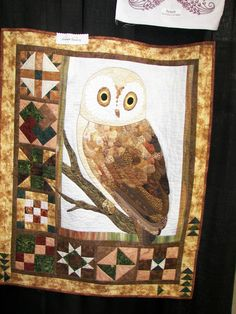 Owl, photo taken at Mid-Valley Quilt Guild Quilt Show 2013
