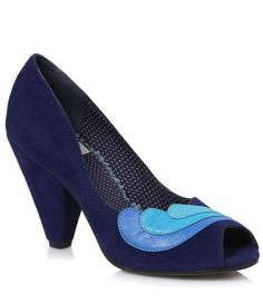 f935a3b2c75d4f Blue Peep Toe Beatrice Color Block Pumps ( 50) ❤ liked on Polyvore  featuring shoes