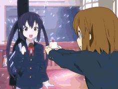 Anime - K-ON! Cake GIF photo by de-arimasu