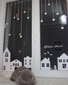 """83 Likes, 11 Comments - Виниловые стикеры•Витражи (@neo_decor) on Instagram: """"СКАЗКУ в каждое окно Праздничный декор окна замечательно дополнит новогоднюю елку. А в комнате,…"""""""