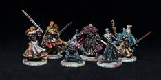 I have finished painting my Zombicide: Black Plague models. This project was a bit challenging for me: basically, I'm getting tired of painting gaming models… I love painting, and I rea… Zombicide Black Plague, Paint Games, Stormcast Eternals, Nerd, Medieval Houses, Fantasy Miniatures, Tabletop Games, Love Painting, New Art