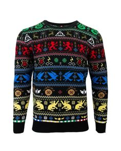 Harry Potter Icons Fair Isle Christmas Girls Knitted Jumper Official Merchandise Xmas Jumper Ugly Sweater Fair Isle Gift Ideas