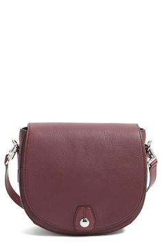 Free shipping and returns on rag & bone 'Flight' Leather Crossbody Saddle Bag at Nordstrom.com. A domed rivet and silvery, logo-etched hardware polish a streamlined saddle bag done in plum-hued pebbled leather. A spacious interior, plenty of pockets and an optional, adjustable crossbody strap add convenience to the stylish look.