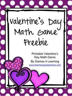 Valentine's Day Math Game FREEBIE!