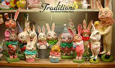 Vintage Easter Decor @ Traditions year round holiday store - check it out if you like vintage decorations