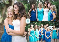 Shades of blue bridesmaid dresses! - A PAWLEY'S ISLAND, SC WEDDING