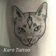 cat dotwork karo tattoo on facebook