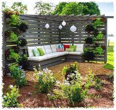 75 Easy Cheap Backyard Privacy Fence Design Ideas - Bailee News Privacy Fence Designs, Privacy Landscaping, Backyard Privacy, Pergola Designs, Patio Design, Garden Privacy, Privacy Screens, Landscaping Design, Garden Arbor