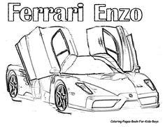 19 En Iyi Ferrari Coloring Pages Goruntusu Boyama Sayfalari