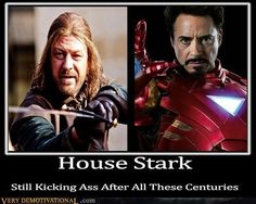 House Stark-Still Kicking Ass.Game of thrones fans would appreciate this .oh it's funny and you know it. Game Of Thrones Pictures, Game Of Thrones Funny, Humor Mexicano, House Stark, Sherlock, Very Demotivational, Got Memes, Film Serie, Funny Games