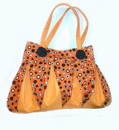 Orange Ripple Bag