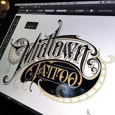 #Tattoo forever by @schmetzer #handmadefont