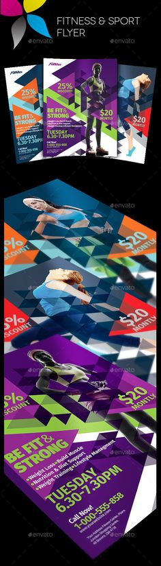 Fitness Flyer Flyer template, Photoshop and Event flyers