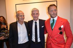 Pietro Negra, Andrea Tessitore and Lapo Elkann at #THEPINKOINVASION #sunglasses collection launch event #PINKO #MFW #SS16