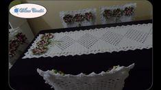 Caminho de Mesa do Jogo de Capas de Crochê Para Cadeiras