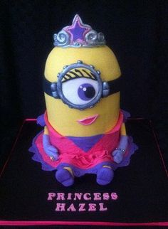 Princess Minion Birthday Cake