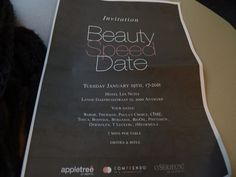 All things beauty: Beautyspeed date event