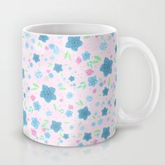 Forget Me Nots - Pink Mug by Lisa Argyropoulos - $15.00