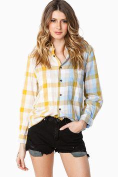 ShopSosie Style : Double Take Blouse in Yellow